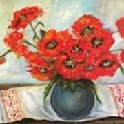 Ukrainian Poppies Poster