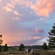 Ulagan Sunset. Mountain Altay Poster