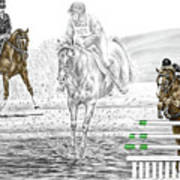 Ultimate Challenge - Horse Eventing Print Color Tinted Poster