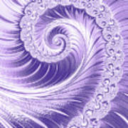 Ultra Violet Luxe Spiral Poster