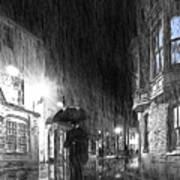 Umbrella Man I Poster