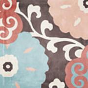 Umbrella Skies II Suzani Pattern Poster
