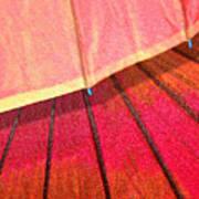 Umbrella Sunrise Poster