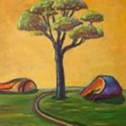 Umbrella Tree Poster