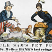 Uncle Sam: Cartoon, 1840 Poster