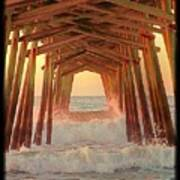 Under The Pier At Dawn Poster