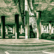 Under The Viaduct C Panoramic Urban View Poster