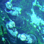 Underwater Statues Poster