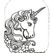 Unicorn Cameo Poster