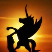 Winged Unicorn Sentinel  Poster