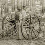 Union Cannon Civil War Sepia Version Poster