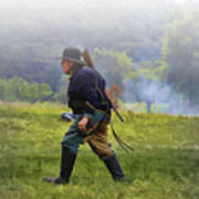 Union Cavalryman On Foot Poster