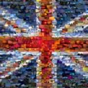 Union Jack Flag Mosaic Poster