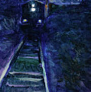 Union Pacific At Night Poster