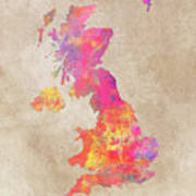 United Kingdom Map Poster