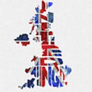 United Kingdom Typographic Kingdom Poster