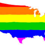 United States Gay Pride Flag Poster