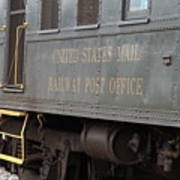 United States Mail Railway Post Office Box Car Poster