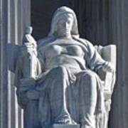 United States Supreme Court, The Contemplation Of Justice Statue, Washington, Dc 3 Poster