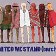 United We Stand Transparent Background Poster
