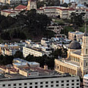 University Of San Francisco Aerial Photo Poster