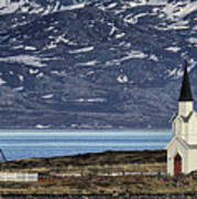 Unjarga-nesseby Church In Arctic Norway Poster