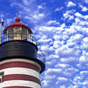 Unmistakable In Any Weather - West Quoddy Head Lighthouse Poster