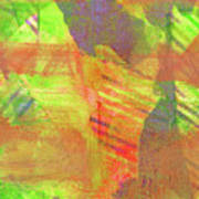 Untitled #13 Abstract Multicolor Poster