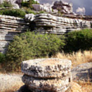 Unusual Rock Formations In The El Torcal Mountains Near Antequera Spain Poster