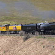 Up 844 Steams Over The Altamont Pass  Poster