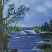 Landscape With Waterfall Poster