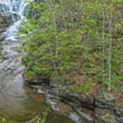 Upper And Middle Falls At Mine Kill State Park Poster