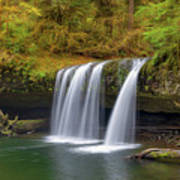Upper Butte Creek Falls In Autumn Poster