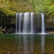 Upper Butte Creek Falls In Fall Season Poster