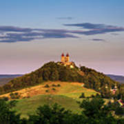 Upper Church With Two Towers In Banska Stiavnica, Slovakia Poster