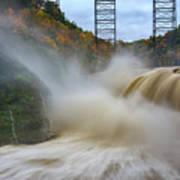 Upper Falls After A Storm Poster