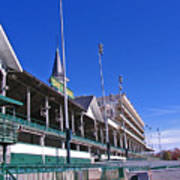 Upper Level Viewing Stands At Churchill Downs Poster