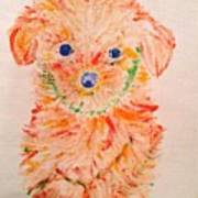 Upright Puppy Poster