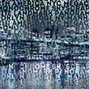 Urban-art Nyc Brooklyn Bridge I Poster by Melanie Viola