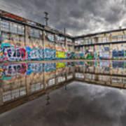 Urban Art Reflection Poster