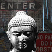 Urban Buddha 4- Art By Linda Woods Poster