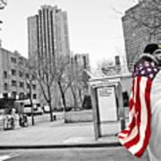 Urban Flag Man Poster