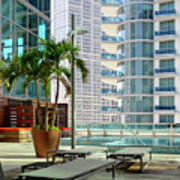 Urban Landscape, Miami, Florida Poster
