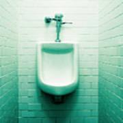 Urinal In Men's Restroom. Poster by John Greim