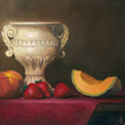 Urn With Fruit Poster