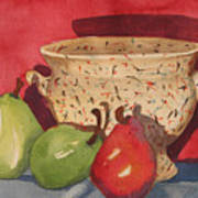 Urn With Pears Poster