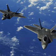 U.s. Air Force F-22 Raptors In Flight Poster