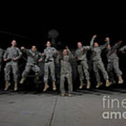 U.s. Army Pilots & Crew Chiefs Jump Poster