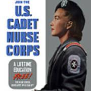 Us Cadet Nurse Corps - Ww2 Poster