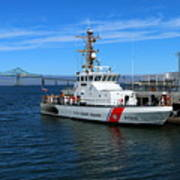 Us Coast Guard On Columbia River Poster